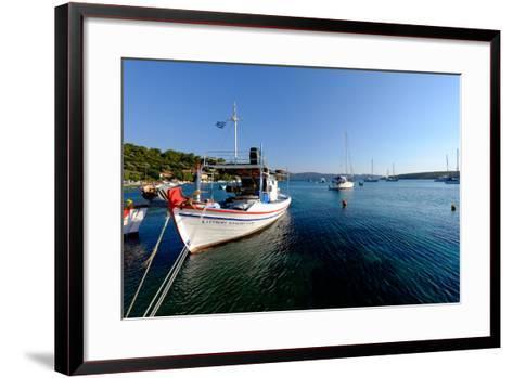 The Small Port and Beach of Posidonio, Samos Island, North Aegean Islands, Greek Islands, Greece-Carlo Morucchio-Framed Art Print