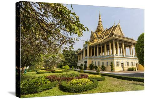 The Moonlight Pavilion, Royal Palace, in the Capital City of Phnom Penh, Cambodia, Indochina-Michael Nolan-Stretched Canvas Print