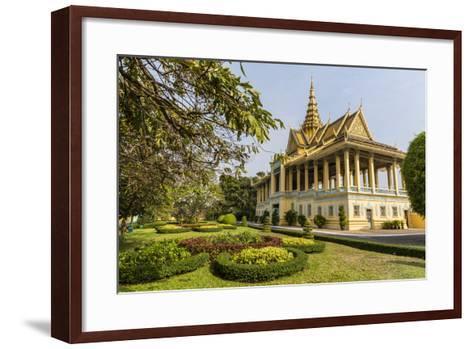 The Moonlight Pavilion, Royal Palace, in the Capital City of Phnom Penh, Cambodia, Indochina-Michael Nolan-Framed Art Print