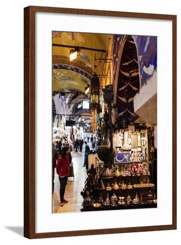 Interior of Grand Bazaar (Kapali Carsi), Istanbul, Turkey-Ben Pipe-Framed Art Print