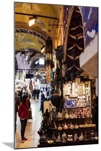 Interior of Grand Bazaar (Kapali Carsi), Istanbul, Turkey-Ben Pipe-Mounted Photographic Print
