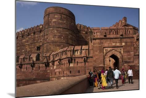 Exterior of Agra Fort, UNESCO World Heritage Site, Agra, Uttar Pradesh, India, Asia-Ben Pipe-Mounted Photographic Print