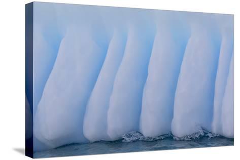Glacial Iceberg Detail at Cuverville Island, Antarctica, Polar Regions-Michael Nolan-Stretched Canvas Print
