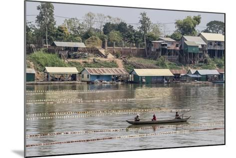 Cham People Using a Dai Fishing System for Trei Real Fish on the Tonle Sap River, Cambodia-Michael Nolan-Mounted Photographic Print