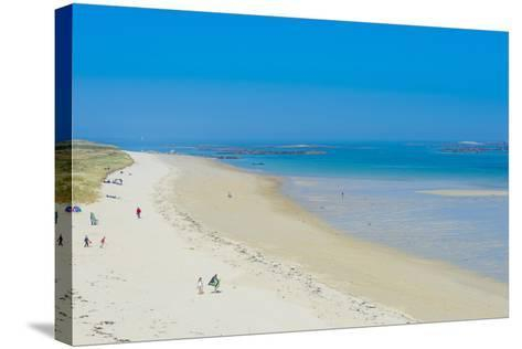 View over Shell Beach, Herm, Channel Islands, United Kingdom-Michael Runkel-Stretched Canvas Print
