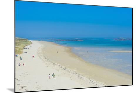 View over Shell Beach, Herm, Channel Islands, United Kingdom-Michael Runkel-Mounted Photographic Print