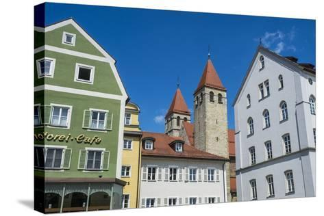 Medieval Patrician Houses and Towers in Regensburg, Bavaria, Germany-Michael Runkel-Stretched Canvas Print