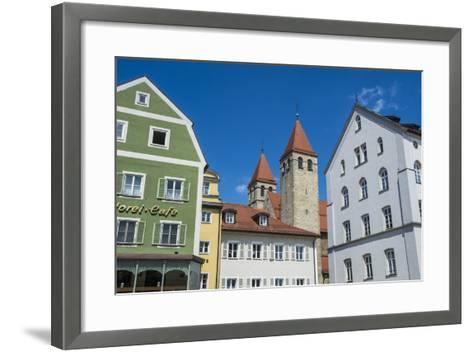 Medieval Patrician Houses and Towers in Regensburg, Bavaria, Germany-Michael Runkel-Framed Art Print