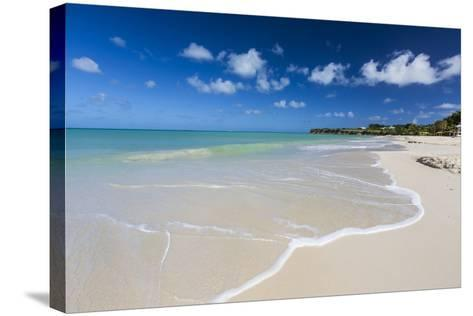 The Waves of the Caribbean Sea Crashing on the White Sandy Beach of Runaway Bay-Roberto Moiola-Stretched Canvas Print