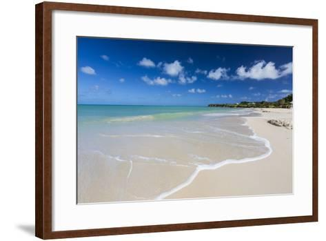 The Waves of the Caribbean Sea Crashing on the White Sandy Beach of Runaway Bay-Roberto Moiola-Framed Art Print