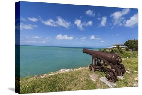 A Cannon Dating from the 17th Century, Fort James, Antigua, Leeward Islands, West Indies-Roberto Moiola-Stretched Canvas Print