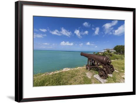 A Cannon Dating from the 17th Century, Fort James, Antigua, Leeward Islands, West Indies-Roberto Moiola-Framed Art Print