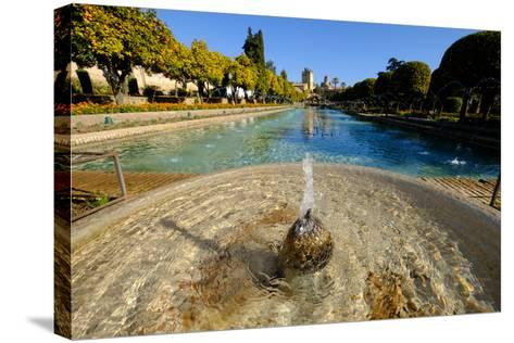 Fountain in the Alcazar De Los Reyes Cristianos, Cordoba, Andalucia, Spain-Carlo Morucchio-Stretched Canvas Print
