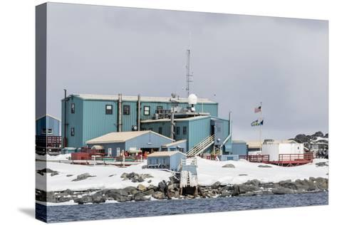 The United States Antarctic Research Base at Palmer Station, Antarctica, Polar Regions-Michael Nolan-Stretched Canvas Print