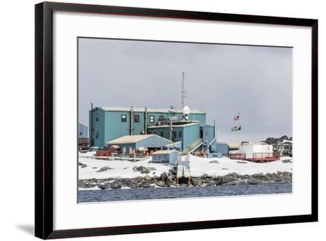 The United States Antarctic Research Base at Palmer Station, Antarctica, Polar Regions-Michael Nolan-Framed Art Print