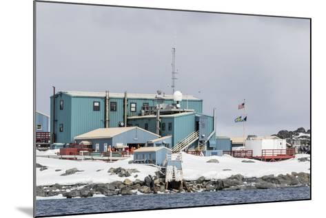 The United States Antarctic Research Base at Palmer Station, Antarctica, Polar Regions-Michael Nolan-Mounted Photographic Print