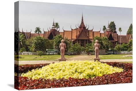 The National Museum of Cambodia in the Capital City of Phnom Penh, Cambodia, Indochina-Michael Nolan-Stretched Canvas Print