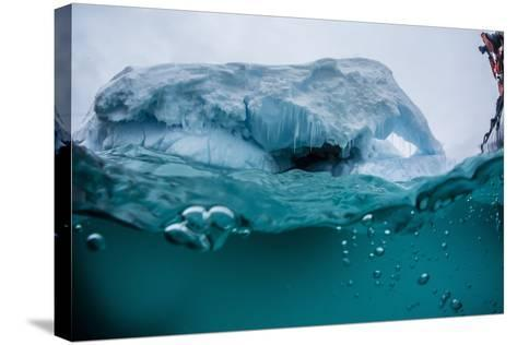 Above and Below Water View of Iceberg at Booth Island, Antarctica, Polar Regions-Michael Nolan-Stretched Canvas Print