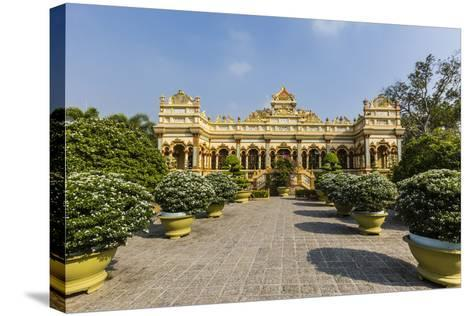 Garden Entrance to the Vinh Trang Pagoda, My Tho, Vietnam, Indochina, Southeast Asia, Asia-Michael Nolan-Stretched Canvas Print