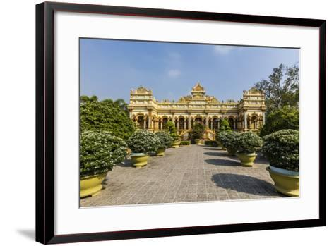 Garden Entrance to the Vinh Trang Pagoda, My Tho, Vietnam, Indochina, Southeast Asia, Asia-Michael Nolan-Framed Art Print