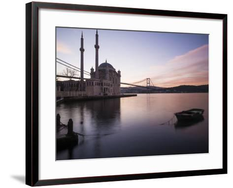 Exterior of Ortakoy Mosque and Bosphorus Bridge at Dawn, Ortakoy, Istanbul, Turkey-Ben Pipe-Framed Art Print