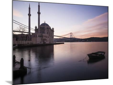 Exterior of Ortakoy Mosque and Bosphorus Bridge at Dawn, Ortakoy, Istanbul, Turkey-Ben Pipe-Mounted Photographic Print
