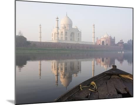 Dawn on the Taj Mahal from Yamuna River, UNESCO World Heritage Site, Agra, Uttar Pradesh, India-Ben Pipe-Mounted Photographic Print