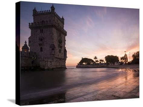 Belem Tower at Dusk (Torre De Belem), Lisbon, Portugal-Ben Pipe-Stretched Canvas Print