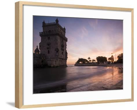 Belem Tower at Dusk (Torre De Belem), Lisbon, Portugal-Ben Pipe-Framed Art Print