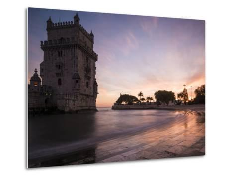 Belem Tower at Dusk (Torre De Belem), Lisbon, Portugal-Ben Pipe-Metal Print