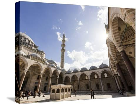 Exterior of Suleymaniye Mosque, Istanbul, Turkey-Ben Pipe-Stretched Canvas Print