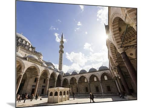 Exterior of Suleymaniye Mosque, Istanbul, Turkey-Ben Pipe-Mounted Photographic Print