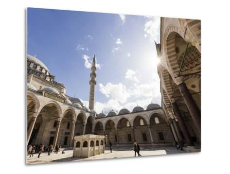 Exterior of Suleymaniye Mosque, Istanbul, Turkey-Ben Pipe-Metal Print