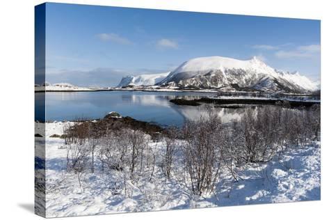 Along the National Tourist Road, Lofoten Islands, Arctic, Norway, Scandinavia-Sergio Pitamitz-Stretched Canvas Print
