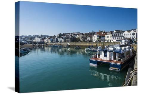 Seafront of Saint Peter Port, Guernsey, Channel Islands, United Kingdom-Michael Runkel-Stretched Canvas Print
