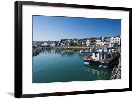 Seafront of Saint Peter Port, Guernsey, Channel Islands, United Kingdom-Michael Runkel-Framed Art Print
