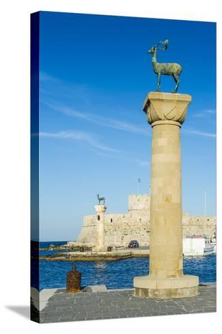 The Deer, the Medieval Old Town of the City of Rhodes, Rhodes, Dodecanese Islands, Greek Islands-Michael Runkel-Stretched Canvas Print