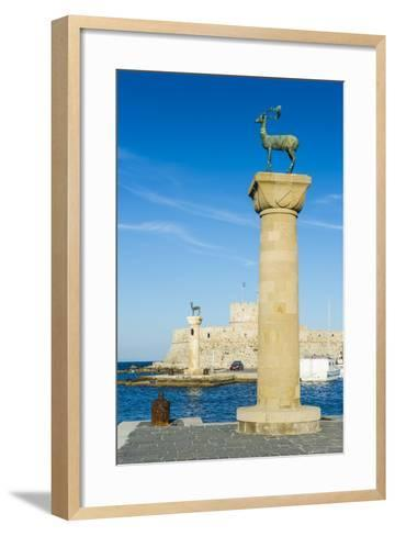 The Deer, the Medieval Old Town of the City of Rhodes, Rhodes, Dodecanese Islands, Greek Islands-Michael Runkel-Framed Art Print