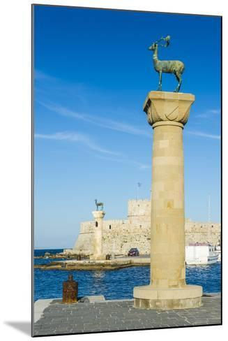 The Deer, the Medieval Old Town of the City of Rhodes, Rhodes, Dodecanese Islands, Greek Islands-Michael Runkel-Mounted Photographic Print