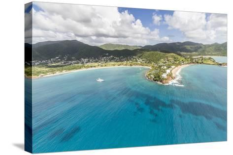 Aerial View of the Small Peninsula That Houses Carlisle Resorts-Roberto Moiola-Stretched Canvas Print