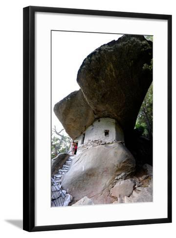 Church of Panagia Theoskepasti, Ikaria Island, North Aegean Islands, Greek Islands, Greece, Europe-Carlo Morucchio-Framed Art Print