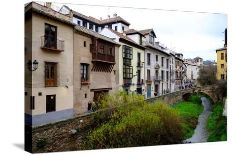 Carrera Del Darro, Granada, Andalucia, Spain-Carlo Morucchio-Stretched Canvas Print