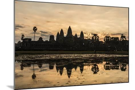 Sunrise over the West Entrance to Angkor Wat, Angkor, Siem Reap, Cambodia-Michael Nolan-Mounted Photographic Print