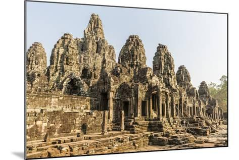 Four-Faced Towers in Prasat Bayon, Angkor Thom, Angkor, UNESCO World Heritage Site, Cambodia-Michael Nolan-Mounted Photographic Print