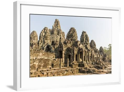 Four-Faced Towers in Prasat Bayon, Angkor Thom, Angkor, UNESCO World Heritage Site, Cambodia-Michael Nolan-Framed Art Print