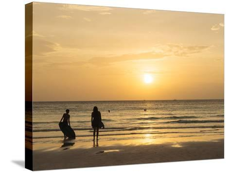 White Beach, Boracay, the Visayas, Philippines, Southeast Asia, Asia-Ben Pipe-Stretched Canvas Print