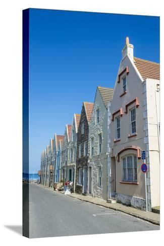Renovated Houses Formerly the Docks in Braye, Alderney, Channel Islands, United Kingdom-Michael Runkel-Stretched Canvas Print