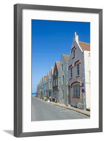 Renovated Houses Formerly the Docks in Braye, Alderney, Channel Islands, United Kingdom-Michael Runkel-Framed Art Print