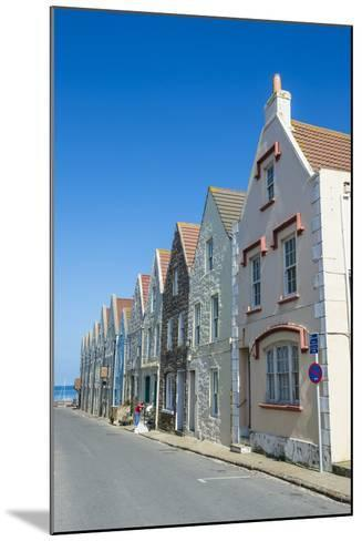 Renovated Houses Formerly the Docks in Braye, Alderney, Channel Islands, United Kingdom-Michael Runkel-Mounted Photographic Print
