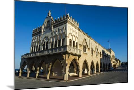 Palazzo Governale, the Medieval Old Town, City of Rhodes-Michael Runkel-Mounted Photographic Print